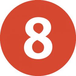 Angka 8 Dalam bahasa Madura (Enje'-Iyah)