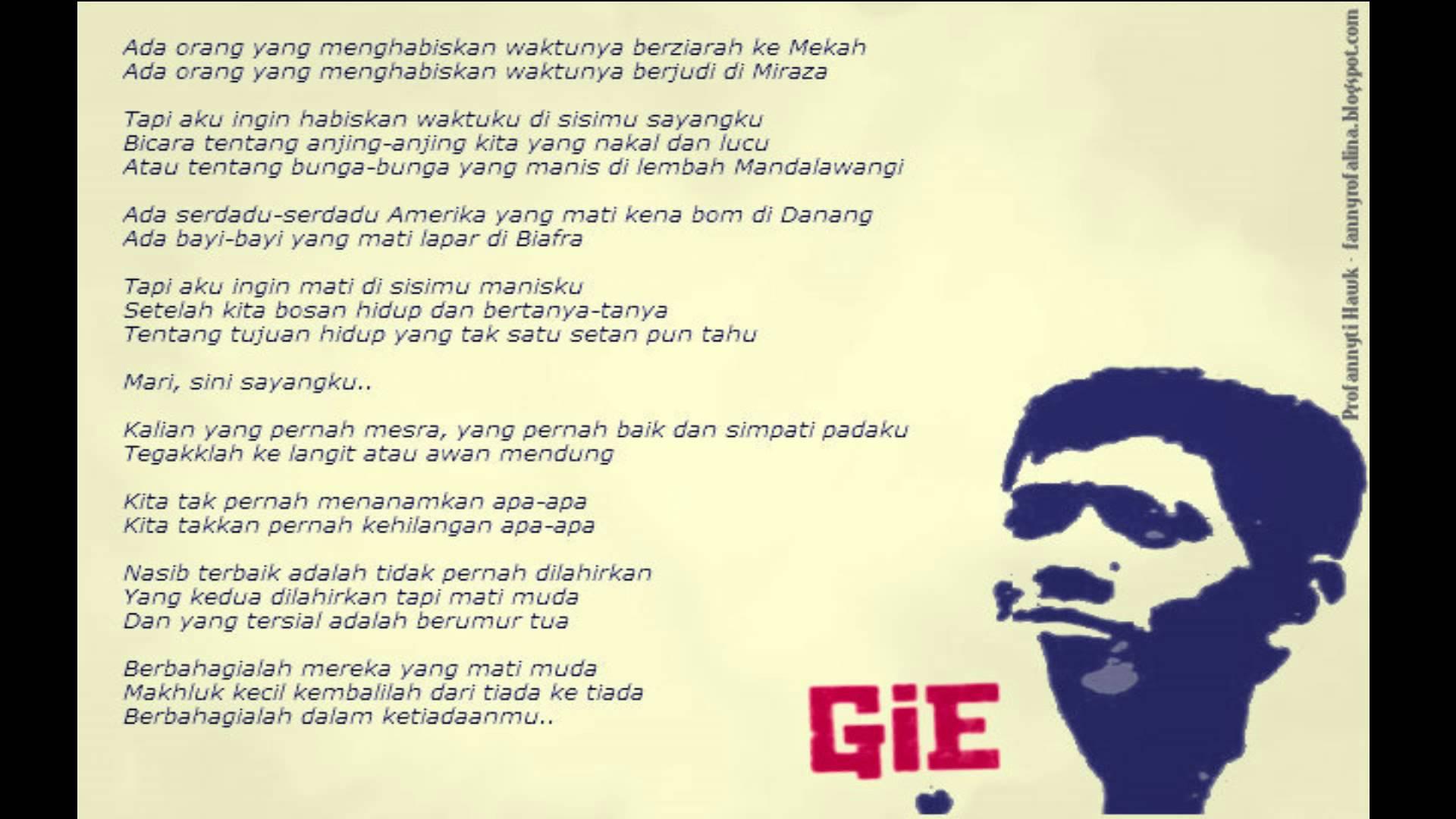Puisi Terakhir Soe Hok Gie