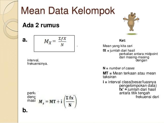 Cara Mencari Mean Modus Dan Median Pada Data Kelompok