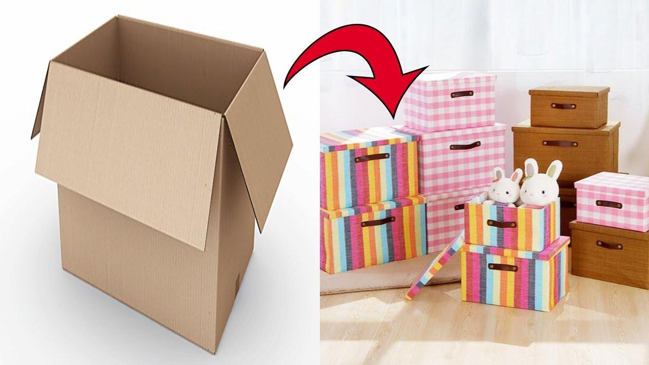Cara Membuat Kotak Penyimpanan Barang Serbaguna dari Kardus Bekas
